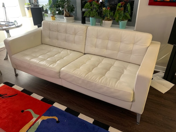 Fabulous White Ikea Leather Sofa Landskrona Gmtry Best Dining Table And Chair Ideas Images Gmtryco