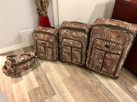 4 pc Leopard Luggage Suitcase Bag Set Calgary, T3R 0Y5