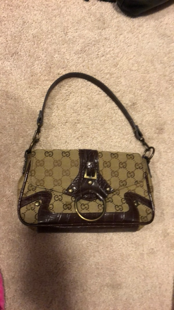 5854af3a7851 Used brown and black monogrammed Louis Vuitton leather crossbody bag for  sale in Fairfield - letgo