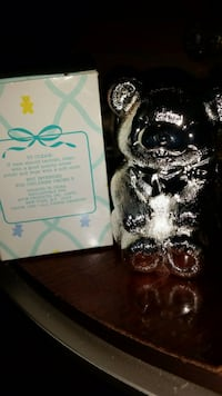 Avon Baby's First Heirloom Silver Plated Bear Bank Belton