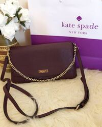 black and brown leather crossbody bag Toronto, M9A 4X9
