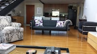 Contemporary black leather couch 291 mi