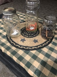 Various Country Glass Jars for Primitive decor Hanover, 17331