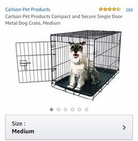 New... Carlson Pet Products Compact and Secure Single Door Metal Dog Crate, Medium St Thomas, N5R 6M6