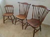 two brown wooden windsor chairs Rockville, 20852