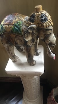 Wooden hand curved/painted elephant  Boca Raton, 33486