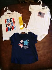 2shirts and onesie size 6-9 12months bnwt