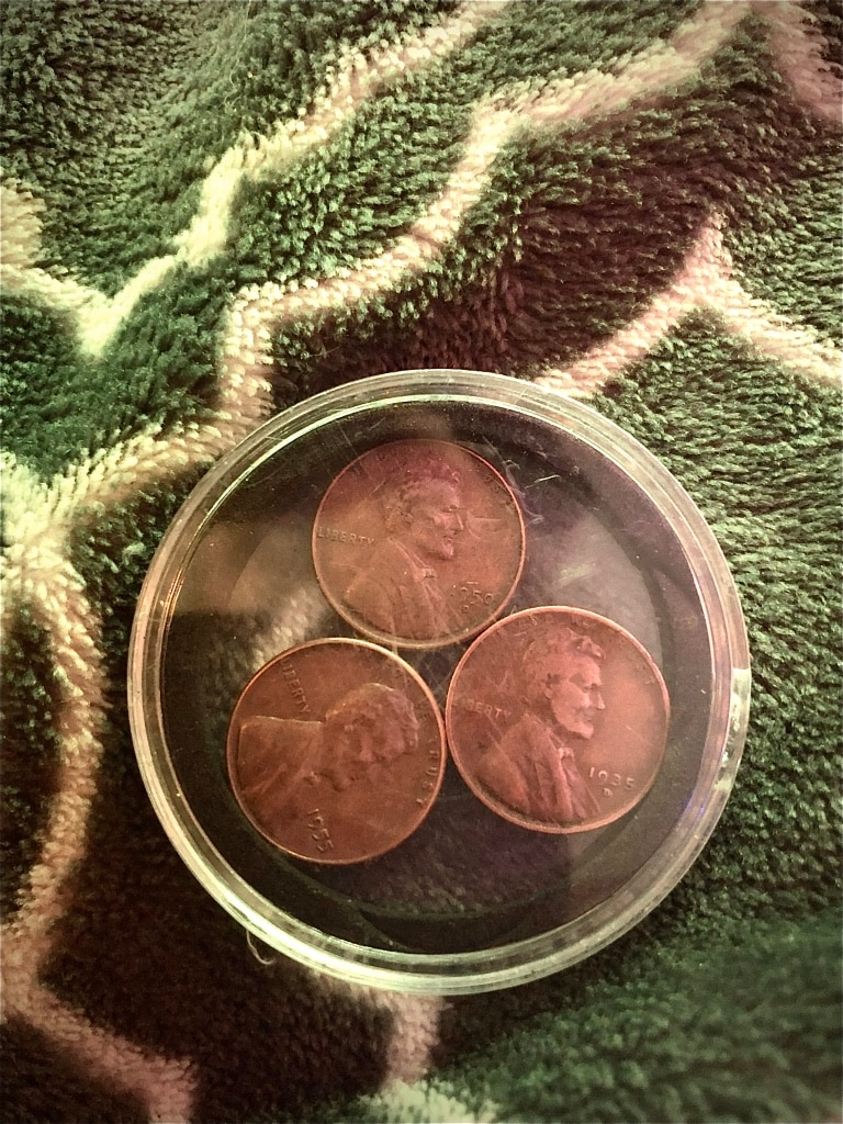Photo Lincoln wheat pennies
