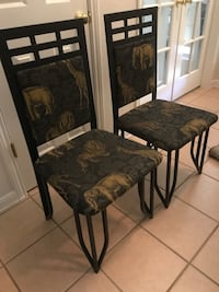 Black, metal chairs Pflugerville, 78660