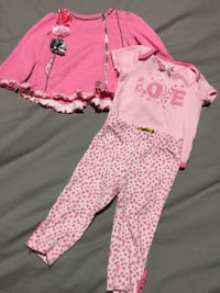 Three piece baby girl outfit 6 to 9 months  Ajax, L1S 6Z2
