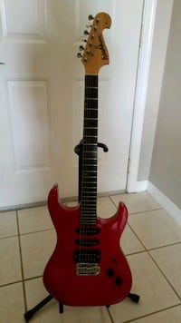 red and black electric guitar Weston, 33326