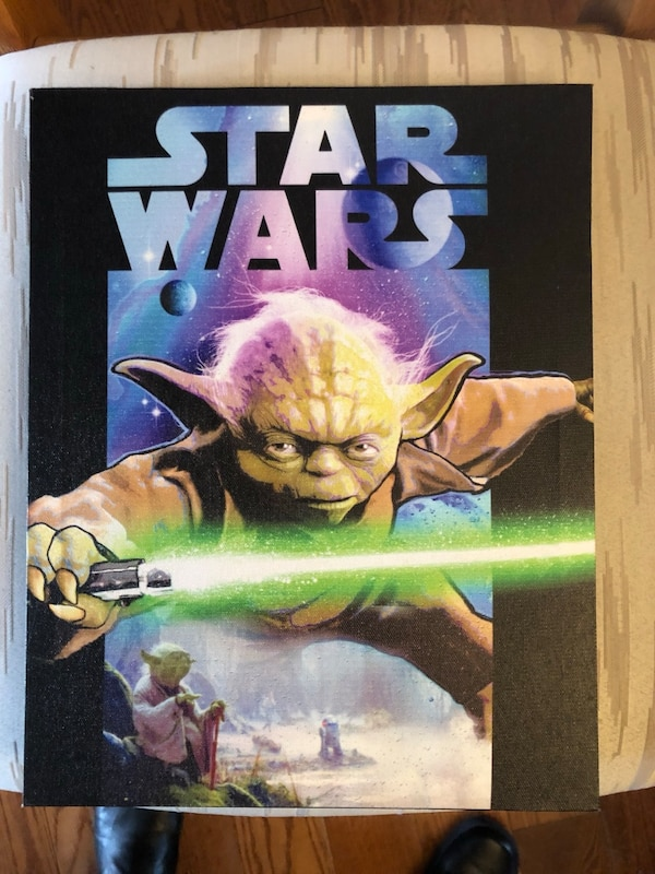 SET OF 4 STAR WARS CANVAS PICTURES