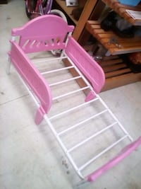 pink and white wooden bench Winnipeg, R3E 2C8
