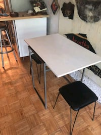 rectangular white wooden table with four chairs dining set Toronto, M5A 1S2