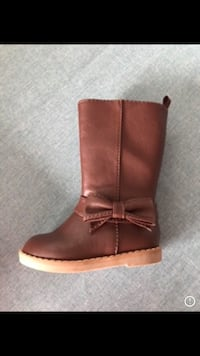unpaired brown leather side-zip boot Halifax, B3G 0A9