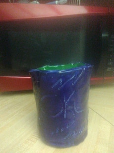 Blue and green home created mug