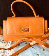 brown leather 2-way bag Singapore