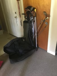 Golf clubs with bag and carrying case Florence, 39073