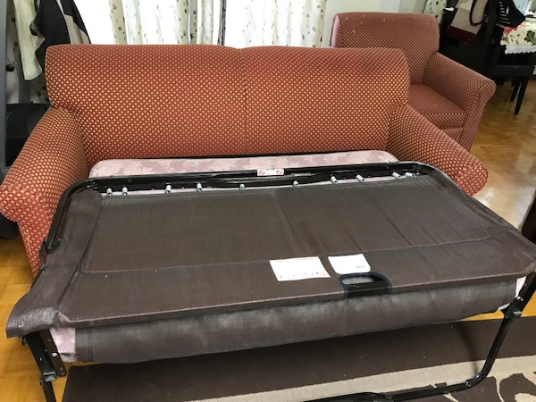 Two set sofa + portable bed in good condition 2ba43f2b-aa80-4ad1-8800-eef00f892fe0