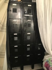 Vintage 15 drawer metal locker