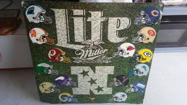 I'm selling a 1970's double sided metal Miller Lite Sign.