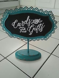 Rustic wedding card and gift chalkboard sign
