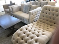tufted gray suede sofa set Alexandria, 22304