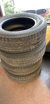 Four black vehicle tires with wheels Newmarket, L3Y 8Y9