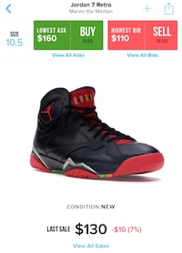 "Air Jordan 7s "" Marvin The Martian "" Stafford, 77477"