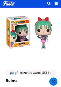 Bulma pop figure