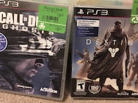PS3 COD Ghosts and Destiny Waterloo, N2V 2H5