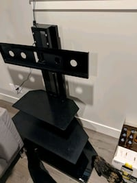 black glass top TV stand with mount Surrey, V3R