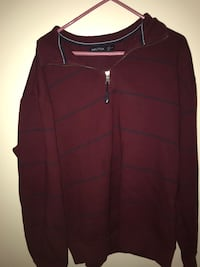 maroon and blue striped Nautica zip-up jacket Fayetteville, 30215