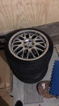 Rep bbs 5x100 used (Only 3 Rims with tred) Surrey, V3Z 0L4