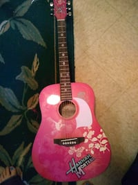 pink and black acoustic guitar Walnut Grove, 39189
