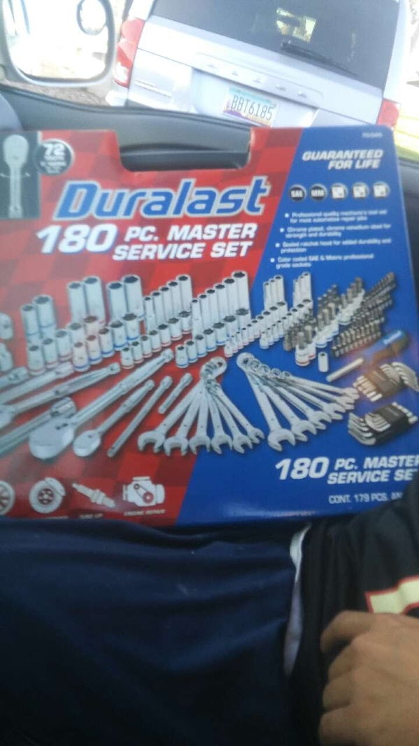 used duralast 180 pieces master service set box for sale in glendale ...