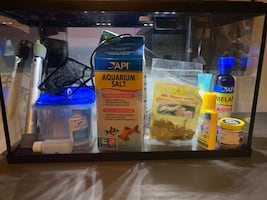 10-gallon Aquarium with Filter, Heater and extras!