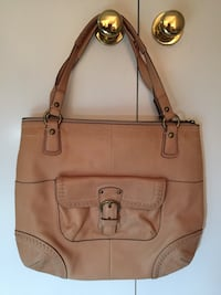 Genuine coach brown leather shoulder bag Fairfax, 22032