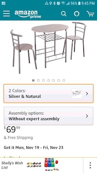 Bistro Metal table & 2 chair Sidney, 45365