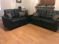 Black Sofá set ,NEW 2pcs Living Room •$5 down
