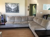 3/pc sectional with table top ottoman