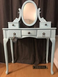 Beautiful feminine vintage vanity desk in a soft blue/teal  Milton, L9T 4J6