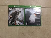 Xbox one Watch Dogs and Halo 5 Guardians Vaughan, L6A 1E4