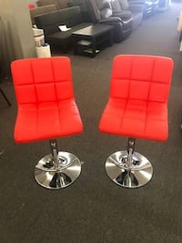 Bonded Leather, Airlift Swivel Stool Red or Brown set of 2 - $155 (houston) Houston, 77092