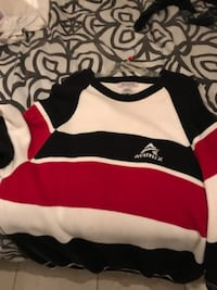 white, red, and black striped sweater WASHINGTON