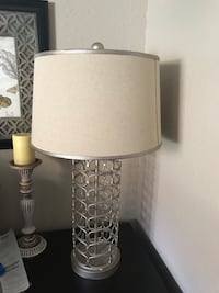 white and gray table lamp 2411 mi