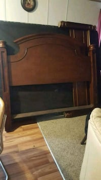 brown wooden headboard and footboard Fort Worth, 76119