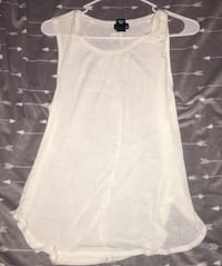 women's white scoop-neck sleeveless blouse Farmersville, 93223