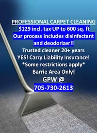 Carpet Cleaning Barrie 621 km