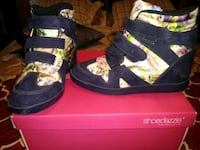 pair of black-and-yellow high top sneakers Baltimore, 21205